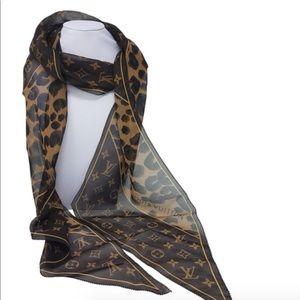 Louis Vuitton Monogram Leopard Silk Scarf